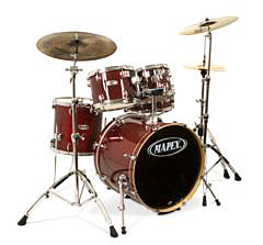 Mapex Set M-Birch Serie MB-5245ACY Transparent Cherry Red