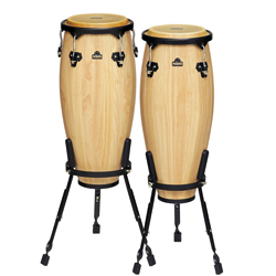 Nino NINO910NT Wood Conga Set Natural