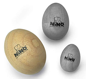 Nino Wood Egg Shakers Large