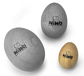 Nino Wood Egg Shakers Small
