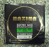 Optima Bass Saiten Satz für 4-Saiter Gold Strings