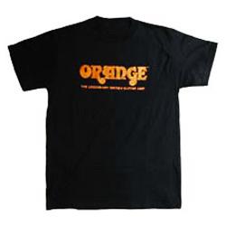 Orange T-Shirt schwarz L mit Orange Logo