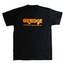 Orange T-Shirt schwarz XL mit Orange Logo