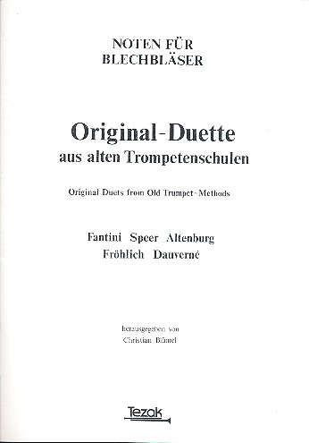 Orginal Duette aus alten Trompetenschulen