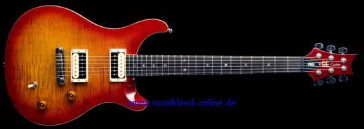PRS SE Custom Tremolo Cherry Sunburst inkl. Gigbag
