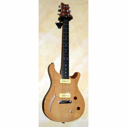 PRS SE Custom Semi Hollow Natural mit P90