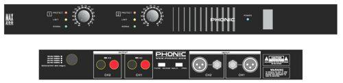 Phonic MAX-250 Monitor-Endstufe