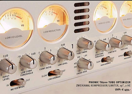 Phonic T-8200 Stereo Tube Kompressor/Limiter