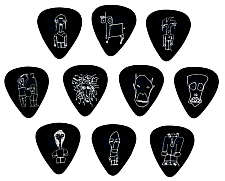 Planet Waves Picks Set Joe Satriani heavy JS1B-H