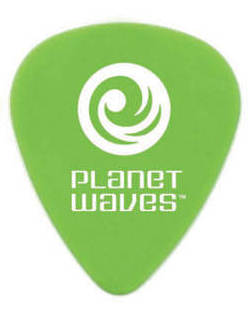 Planet Waves Picks/Plektren Set 25 Stk grün