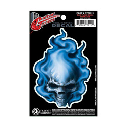 PlanetWaves GT77011 Guitar Tattoo - Blue Flame Skull