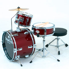 Platin Drumkids Junior-Set weinrot