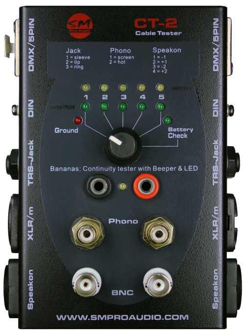 SM Pro Audio CT 2 Kabeltester