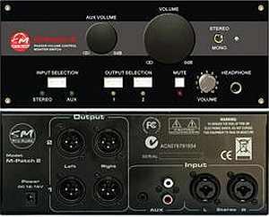 SM Pro Audio M-Patch 2 passiver Lautstärkeregler
