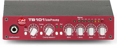SM Pro Audio TB101 1 Kanal Röhren Preamp m. EQ/opt. Kompressor