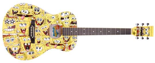 SPONGE BOB Akustik Gitarre