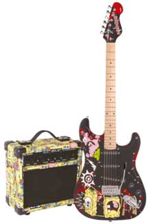 SPONGE BOB E-Gitarre Set BLK
