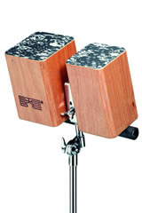 Schlagwerk Wooden Bongos für Montage auf Stativ WBM-100