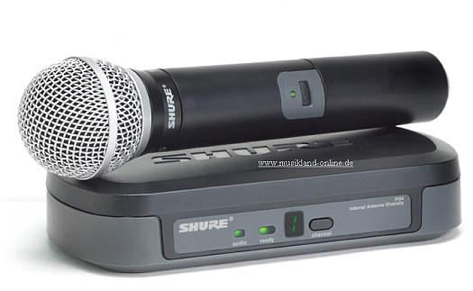 Shure PG-24 / PG58 Funk-SET für Gesang
