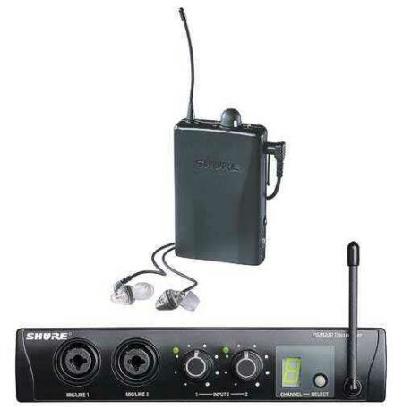 Shure PSM-200 UHF EP2TRE 2 In-Ear-Komplett-SET