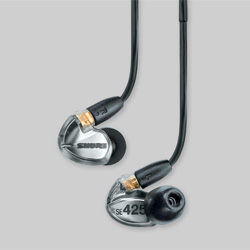 Shure SE425-V Sound Isolating Ohrhörer silber metallic