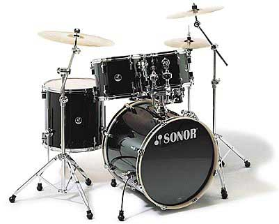 Sonor F-1007 Stage 1 Drum Set Black