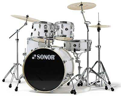 Sonor F-1007 Stage 2 Drum Set Snow White