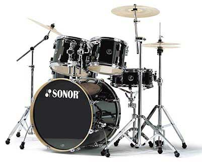 Sonor F-2007 Stage 1 Drum Set Black