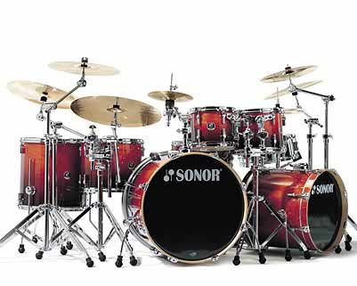 Sonor F-2007 Stage 3 Drum Set Amber Fade