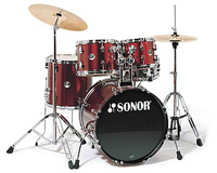 Sonor F-507 Studio 1 Drum Set Wine Red