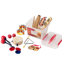 Stagg CPK-02 Kinder Percussionssatz in transparenter Kunststoff-Box