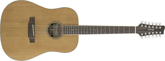 Stagg NA-60/12 Dreadnought Natur Westerngitarre