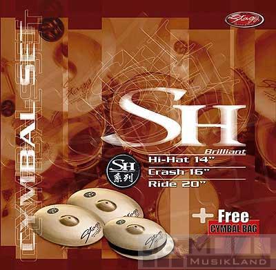 Stagg SH-SET B brilliant cym.set h14+c16+r20+bag