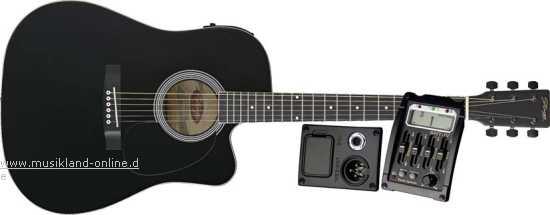 Stagg SW-203 CE-BK Westerngitarre
