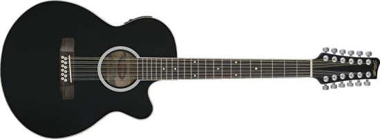 Stagg SW-206TUCE-12 BK Western-Gitarre