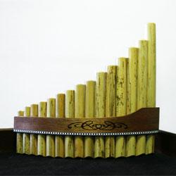 Stölzel Panflöte 15 Rohre C Bambus