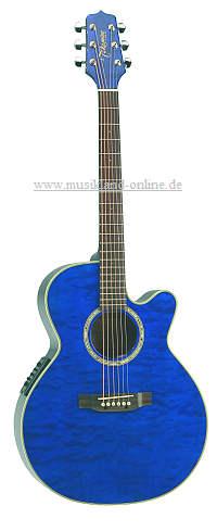 Takamine EG-540 C-BQH blue NEX mit Cutaway