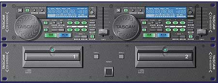 Tascam CD-X1500 Doppel CD-Player