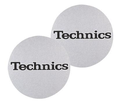 Technics Slipmat Logo Silver