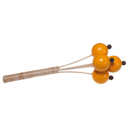 Toca T-BRS Rattan Yellow Bell Shaker on Stick