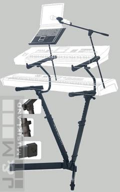 Ultimate VS-80B Keyboard, DJ Equipment & Console Stand