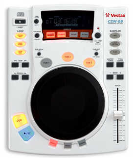 Vestax CDX-05 White single CD-Player