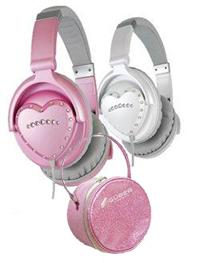 Vestax HMX-1 DJ-Kopfhörer Herzform pink