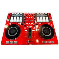Vestax VCI380 Performance 2-Deck Controller Rot