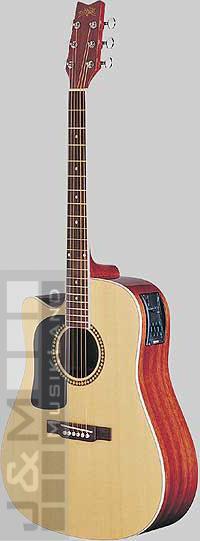 Washburn D-10 SCELH-N Westerngitarre lefthand