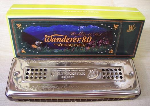 Weltmeister Mundharmonika Wanderer 80 C/G