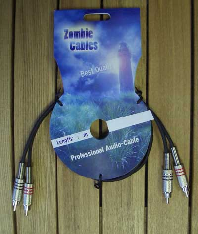 Zombie Audiokabel Cinch-Cinch 1m stereo