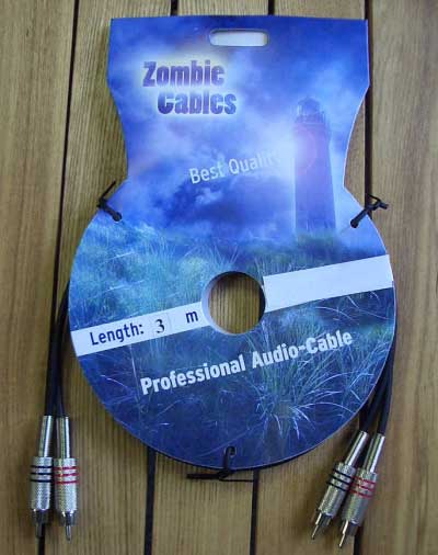 Zombie Audiokabel Cinch-Cinch 3m stereo