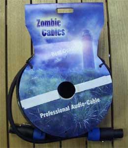 Zombie Lautsprecher Kabel 10m schwarz