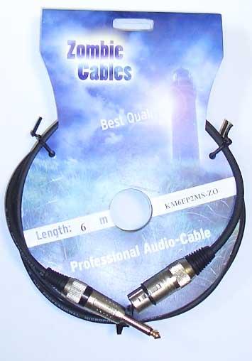 Zombie Mikrofon Kabel 6m XLR female - Klinke
